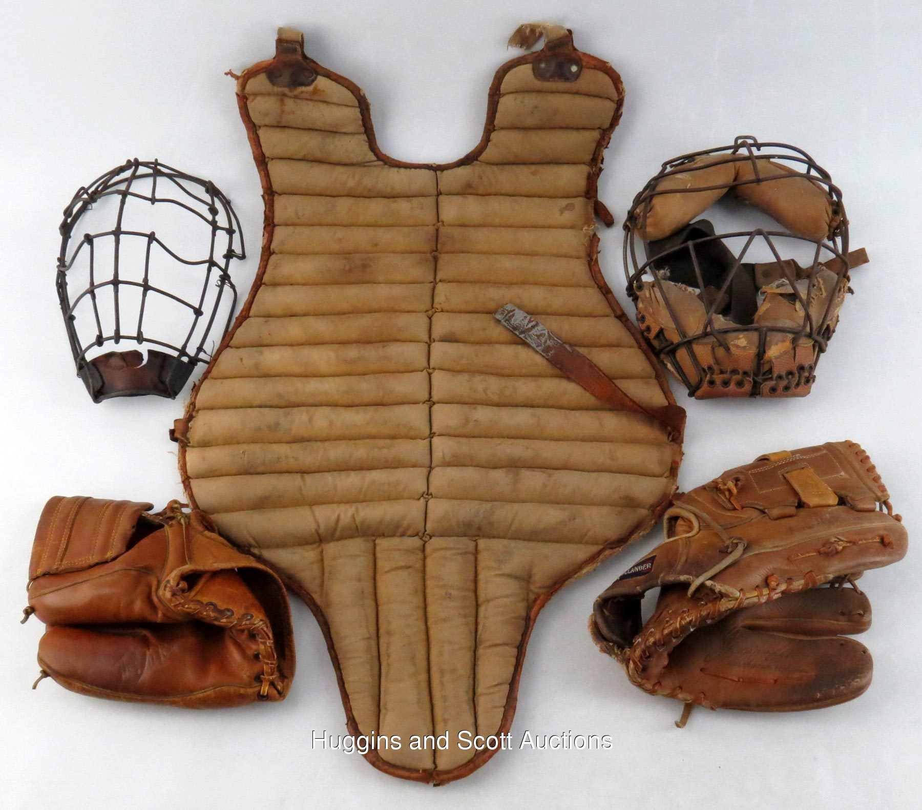Incredible Vintage Baseball Equipment Treasure Chest Of