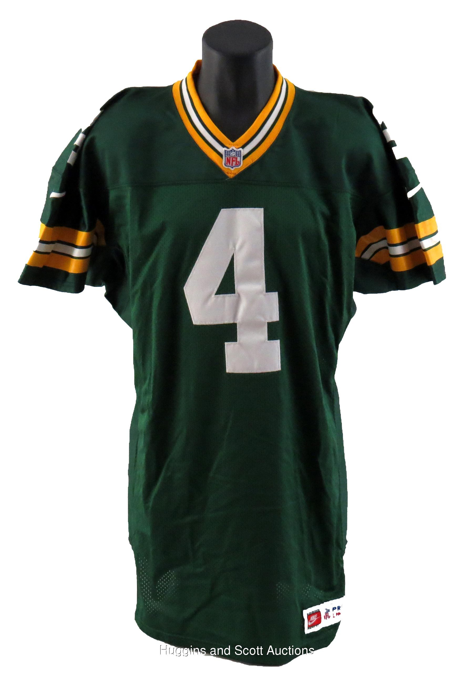 new style 13a02 1836a Brett Favre 1997 Green Bay Packers Game-Worn Home Jersey